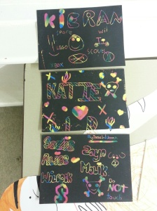 Some of the scratch art done by our club members!